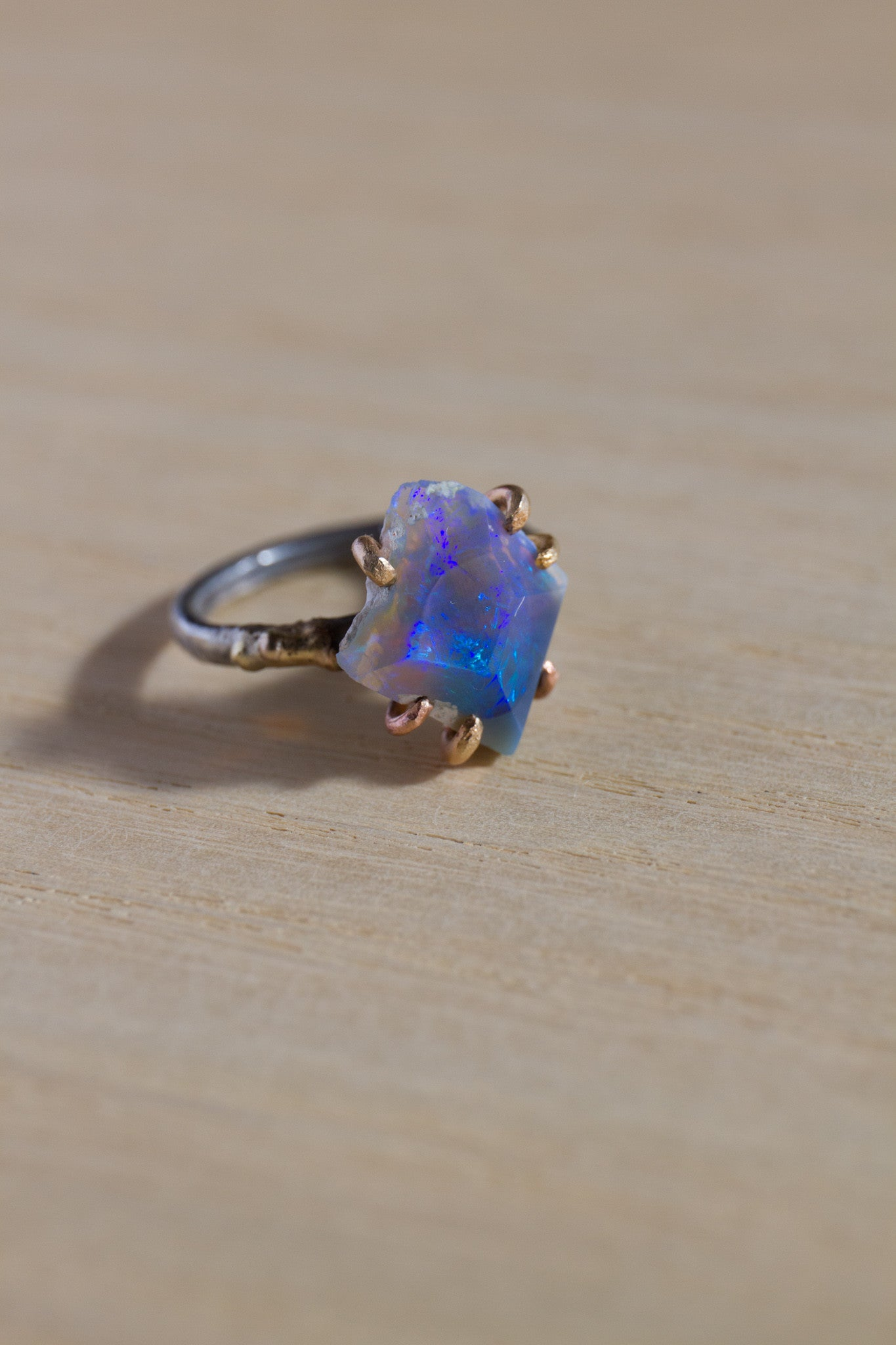Variance Objects large australian opal ring