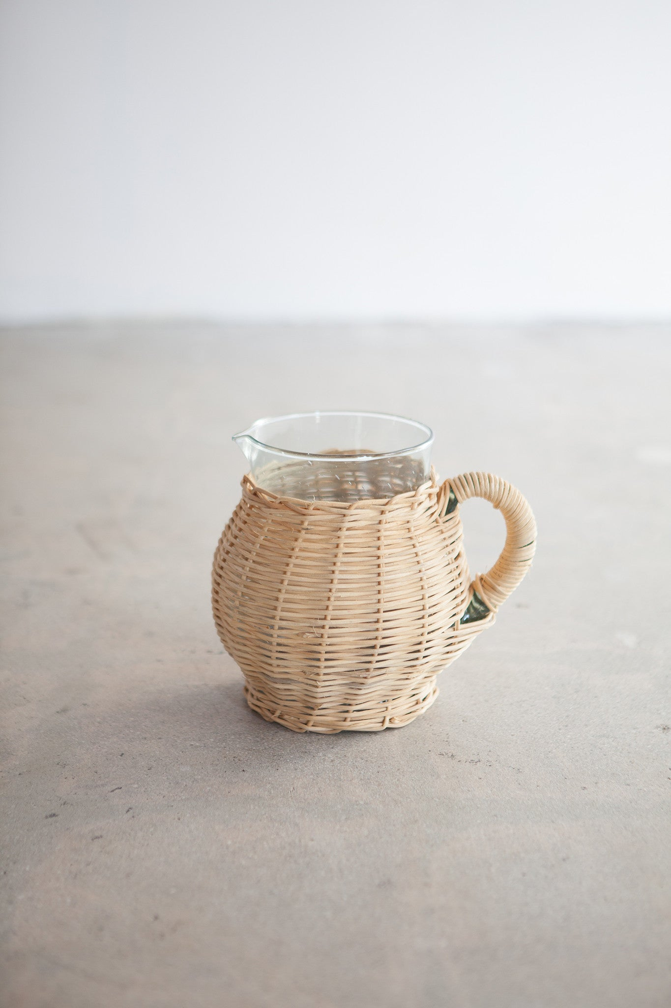 Vintage Wicker Pitcher