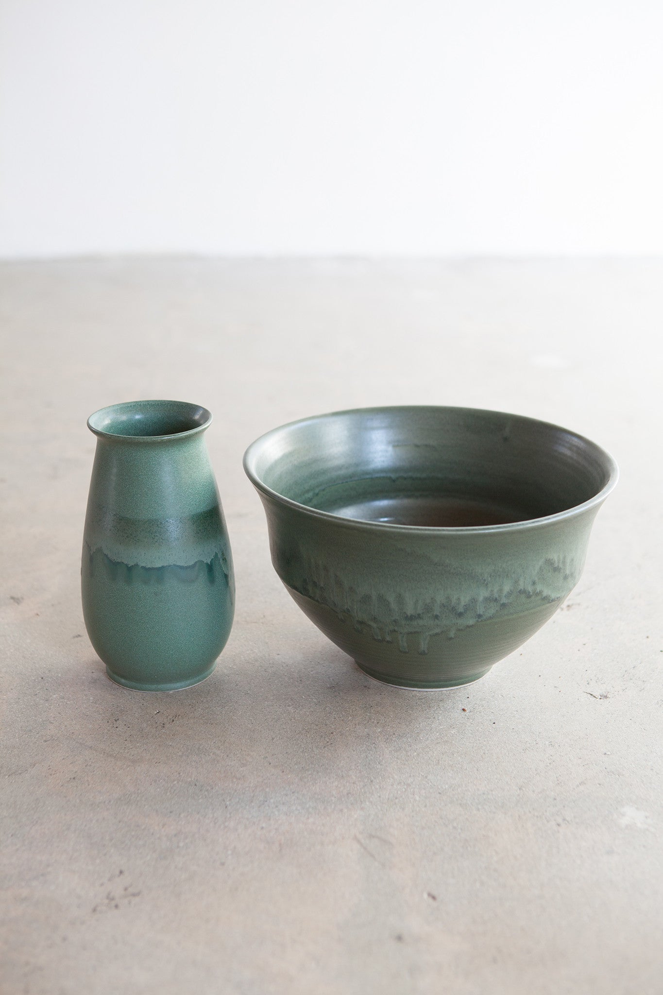 Vintage green pottery set SOLD