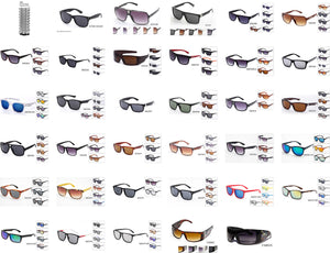 $350 for 25 Dozens Men's Plastic Collection with Paper Display - GOGOsunglasses, IG sunglasses, sunglasses, reading glasses, clear lens, kids sunglasses, fashion sunglasses, women sunglasses, men sunglasses