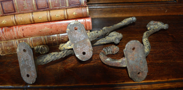 Antique French Cast Iron Large Hook Hardware 3 Available - Antique Flea Finds - 5