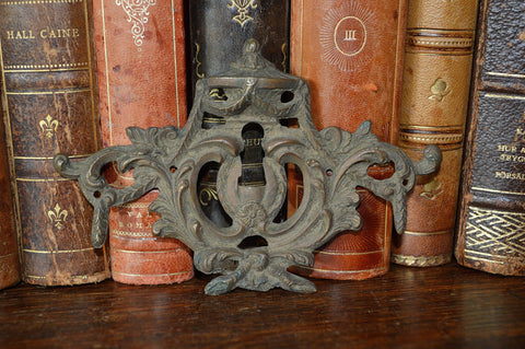 Antique French Bronze Empire Urn Keyhole Escutcheon Hardware 2 Available - Antique Flea Finds