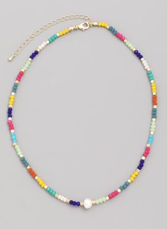 Colorful Beaded Choker Necklace - SISTER LB
