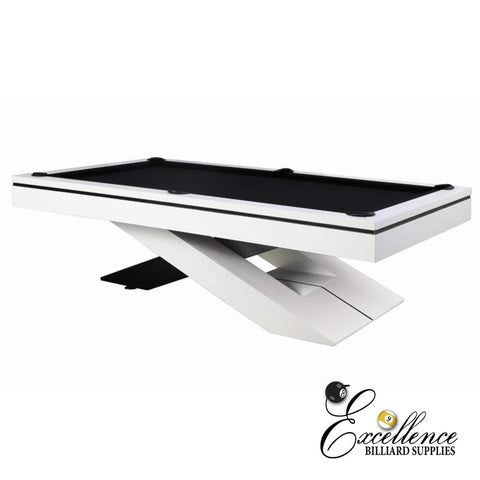 8' Galaxy Pool Table - White