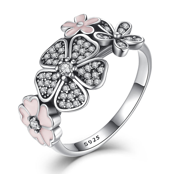 Cherry Blossoms in Sterling Silver