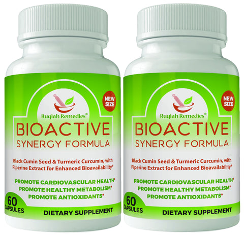 Dual Pack- Bioactive Synergy Formula:Turmeric and Black Seed with Piperine Extract