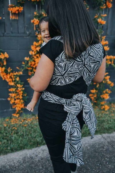 Aroha Mutunga Kore 'Mamaku' - ring sling conversion - ring slings converted by Kelsey of K.I.Designs in New Zealand - Aroha Textiles