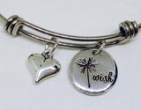 Wish Charm Stainless Steel Bangle