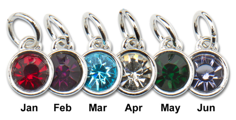 12 mm Swarovski Crystal Birthstone Charms