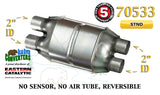 "70533 Eastern Universal Catalytic Converter Standard 2"" Dual Pipe 12"" Body - Bear River Converters"