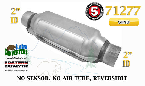 "71277 Eastern Universal Catalytic Converter Standard Catalyst 2"" Pipe 12"" Body - Bear River Converters"