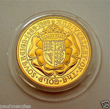 1989 ROYAL MINT ST GEORGE SOLID 22K GOLD PROOF HALF SOVEREIGN COIN BOX COA