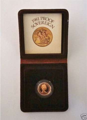 1981 QUEEN ELIZABETH II GOLD FULL PROOF SOVEREIGN