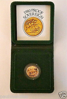 1980 QUEEN ELIZABETH II GOLD FULL PROOF SOVEREIGN