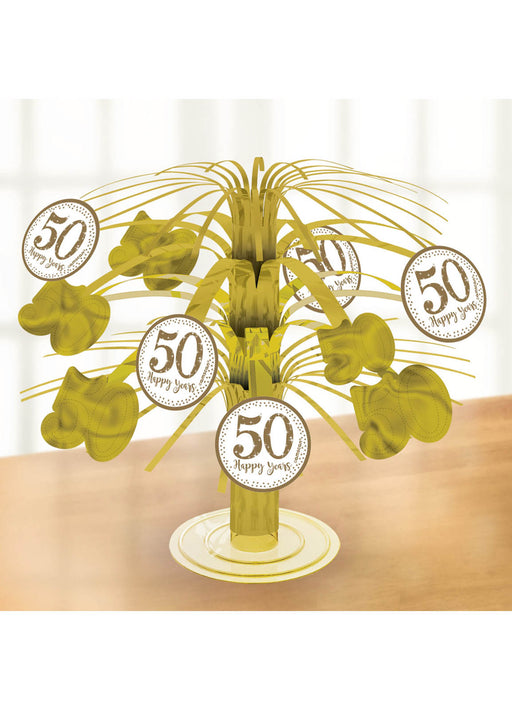 Golden Anniversary Table Centrepiece