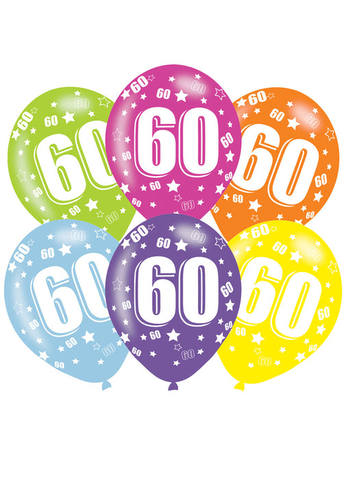 Happy 60th Birthday Latex Balloons 6pk