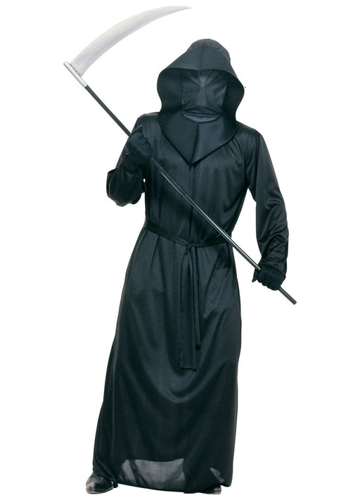 Black Mesh Face Robe Adult