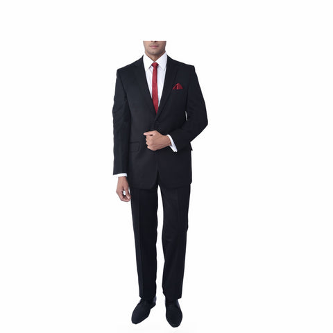 Rent- Classic Black Bandhgala Suit