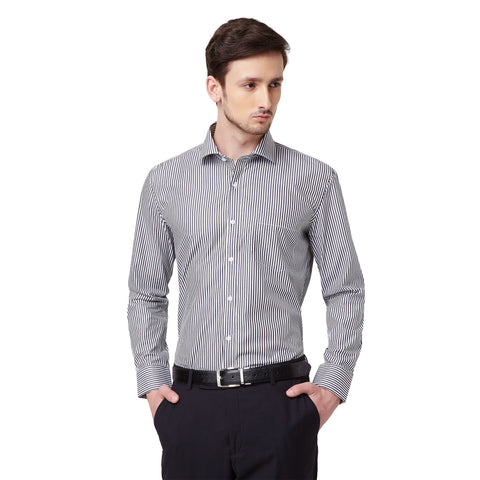 Blue Micro Checks Shirt