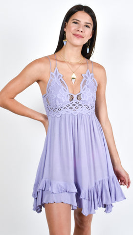 Free People Adella Slip Cloudy Lavender