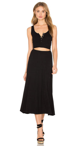 Privacy Please Malone Cut Out Tank Maxi Dress Black