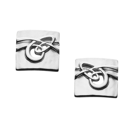Aikerness  Square Stud Earrings