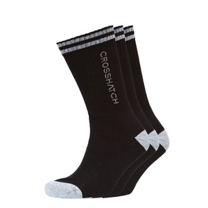 Balance Sports Socks 3Pk - Black Underwear