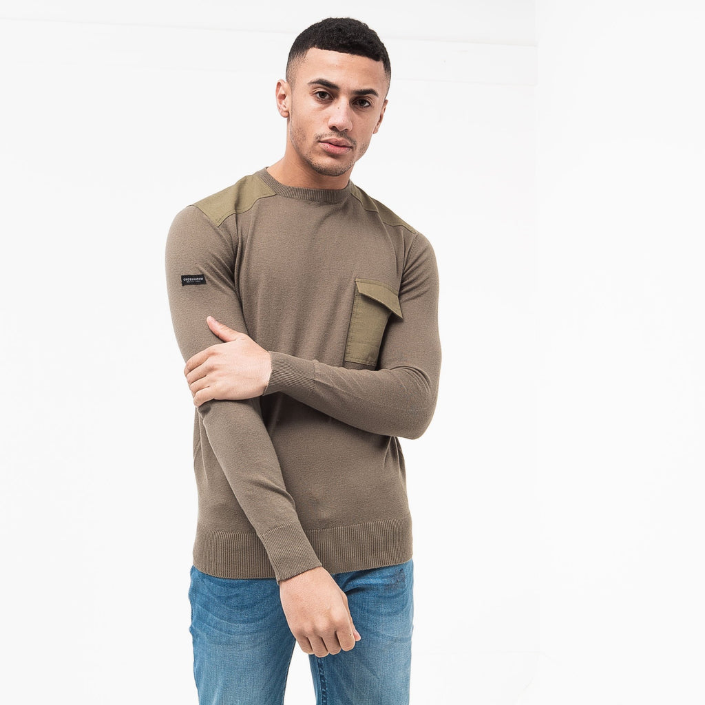 Plankford Knit S / Dusty Olive Knitwear
