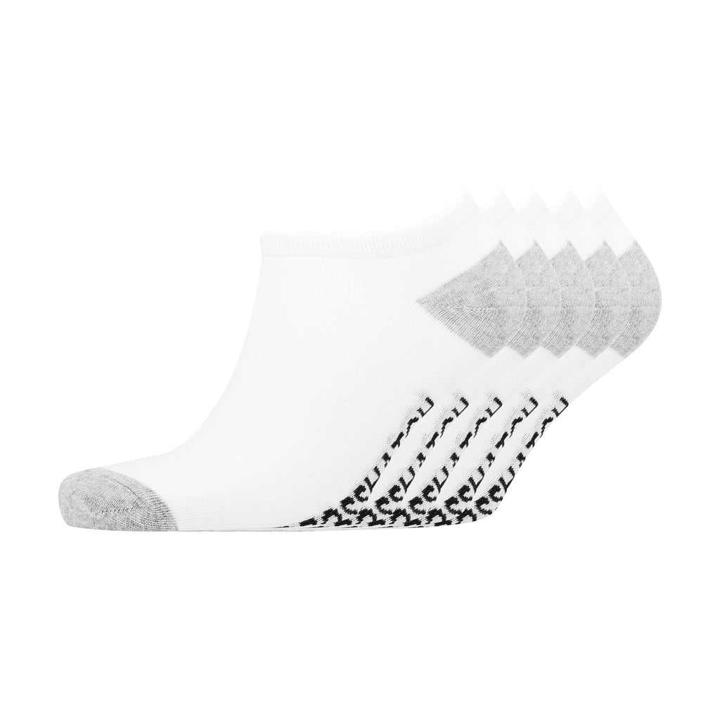 Dunrow Trainer Socks 5Pk - White/grey Marl Underwear