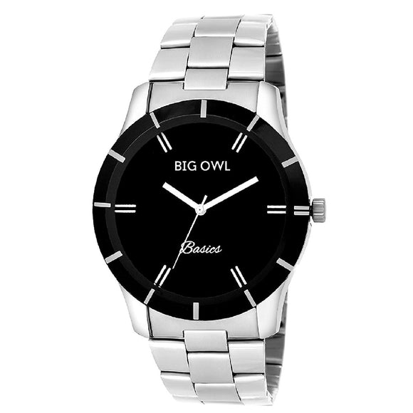 Black Analogue Wrist Watch for Men