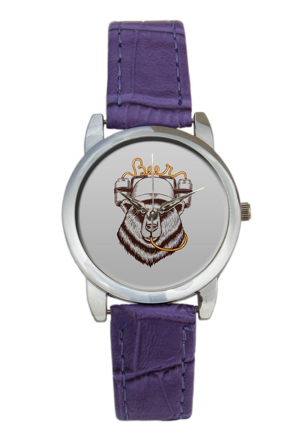 Party Bear Quirky Illustration Women Wrist Watch