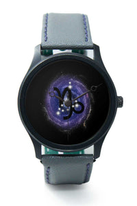 Wrist Watches India |Capricorn Zodiac Minimal Illustration  Premium Men Wrist WatchOnline India.