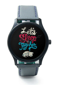 Wrist Watches India |Let's Sleep Together Quirky Illustration  Premium Men Wrist WatchOnline India.