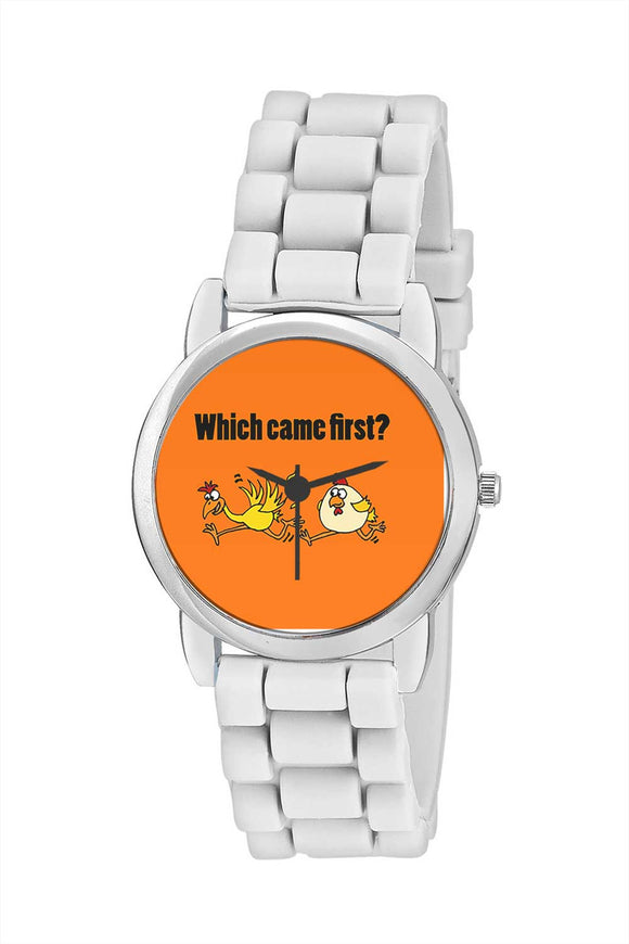Kids Wrist Watch India |Which Came First Quirky Illustration Kids Wrist Watch Online India