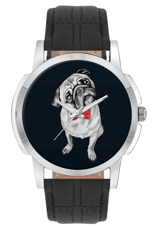 Wrist Watches India | Cute Pug Illustration Wrist Watch Online India.