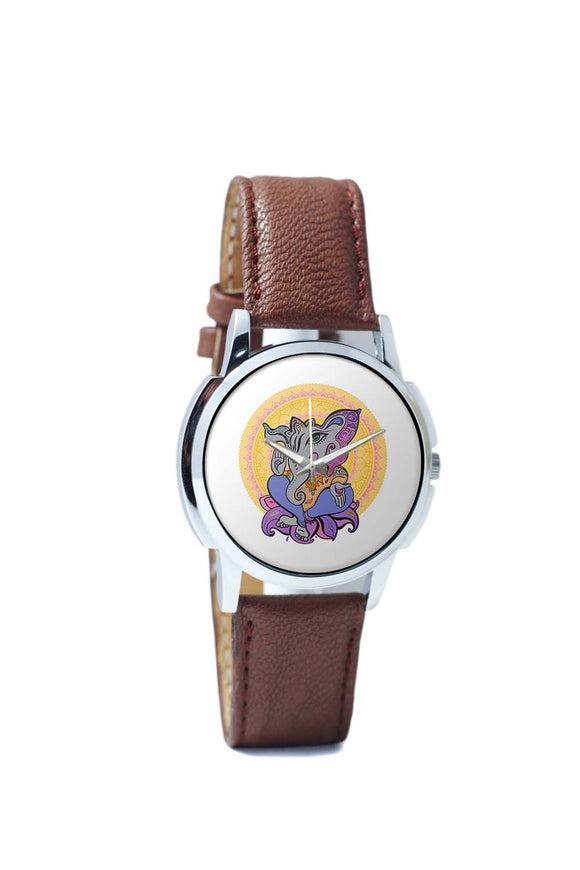 Wrist Watches India | Ganesha Line Art Wrist Watch Online India.