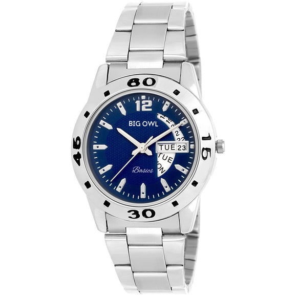 Blue Dial Day and Date Analogue Women Wrist Watch
