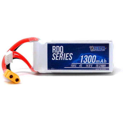 RDQ Series 14.8V 4S 1300mAh 100C LiPo Battery - XT60