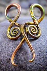 Carved Antique Gold | Squids | 6G - 0G