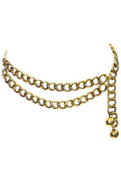 New in Box Chanel Chain Link layered Belt