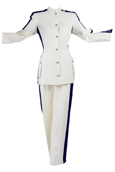 Thierry Mugler White Linen Pant Suit