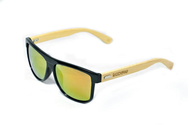 Orange Mirror Bamboo Sunglasses