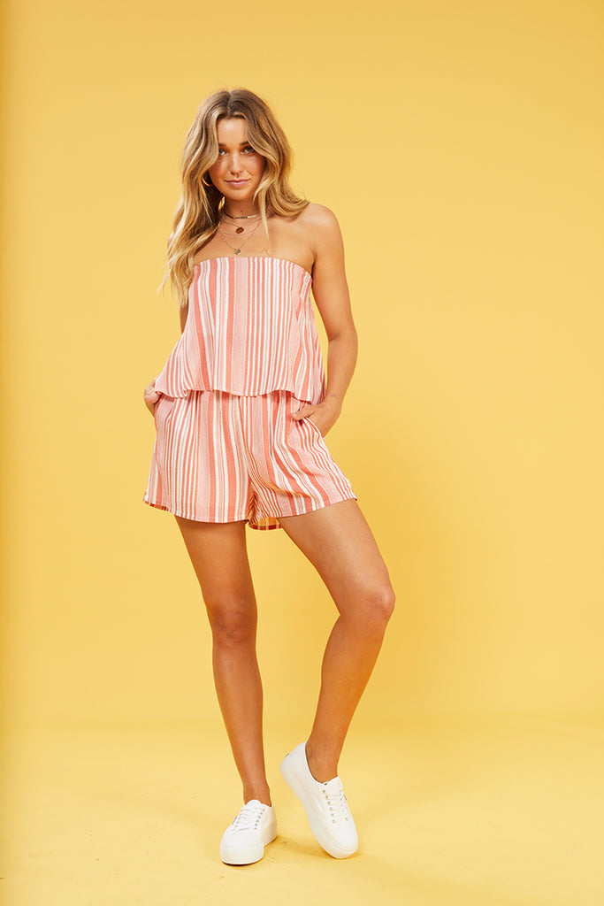 Oceanside Stripe Playsuit