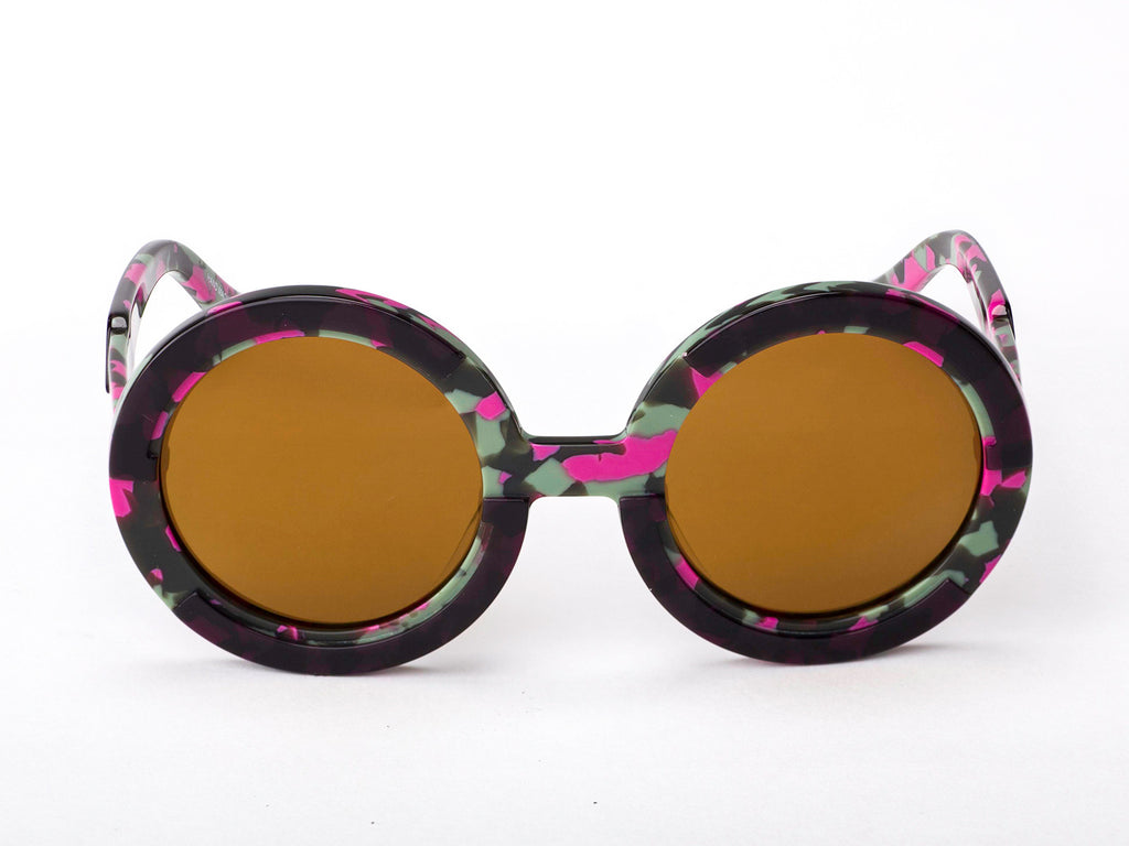 Sobo Sunglasses Pink Camo Frame With Brown Lens