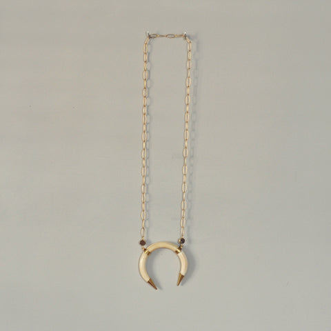 Larissa Loden Crescent Druzy Necklace