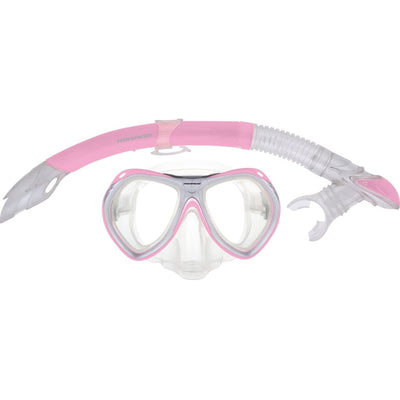 Crystal Mask/snorkel Junior Set Pink Masks / Snorkels / Fins