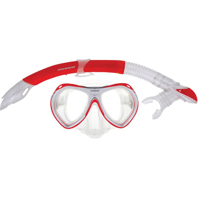 Crystal Mask/snorkel Junior Set Red Masks / Snorkels / Fins
