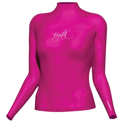 Crystal Womens Rash Top - Longsleeve S / Pink S / W Clothing / Footwear