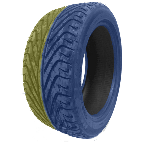 235/45R17 Highway Max - DUAL SMOKE Blue & Yellow