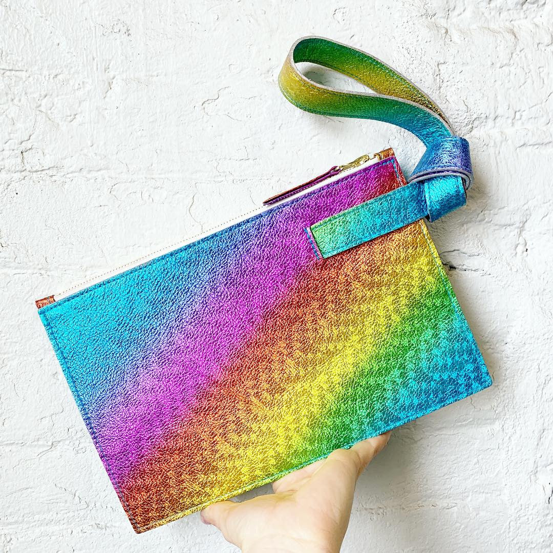 The Stefka Knot Clutch in Rainbow
